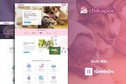 Chikapoe - Pet Care & Veterinary Elementor Template Kit
