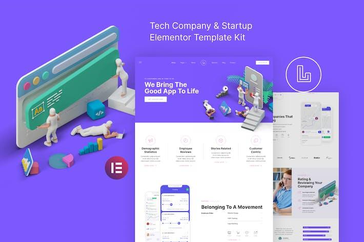 Landon – Tech Company & Startup Elementor Template Kit