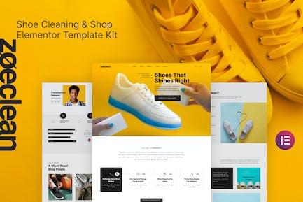 Zoeclean - Template Kit Plantilla de Limpieza de Calzado y Tienda