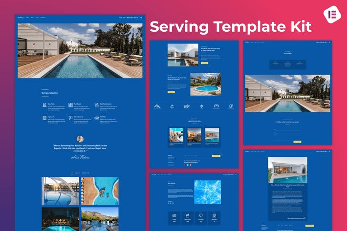 Citala — Swimming Pool Maintenance Company Elementor Template Kit