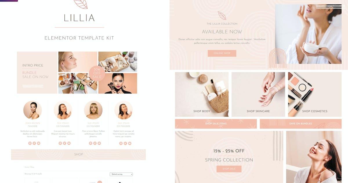 Download Lillia - Beauty & Skincare Elementor Template Kit by dtbaker