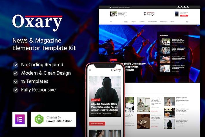 Oxary — Noticias & Magazine Elementor Template Kit