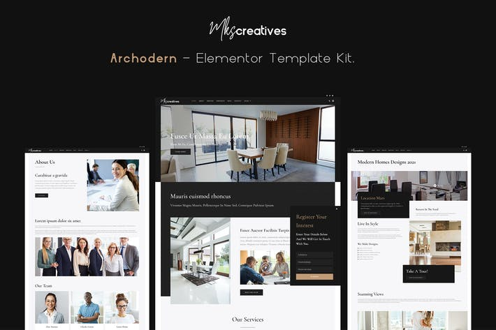 Archodern - Interieur & Architektur Elementor Template Kit