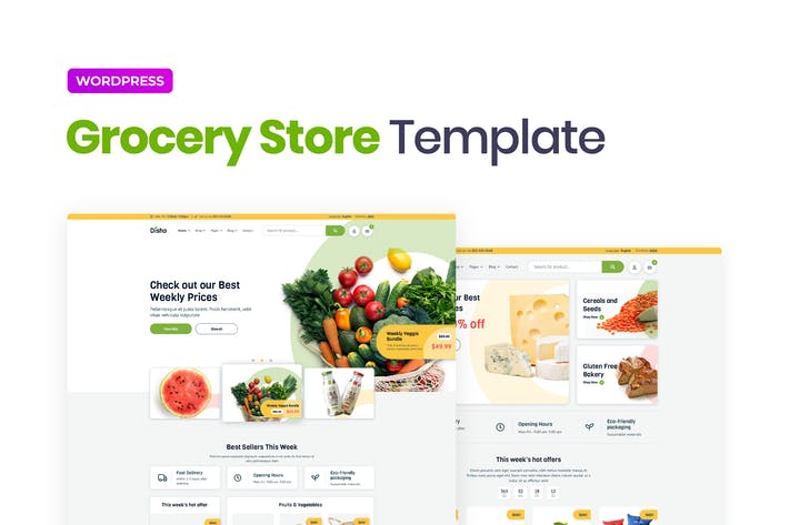 Disho – Grocery Store Elementor Template Kit