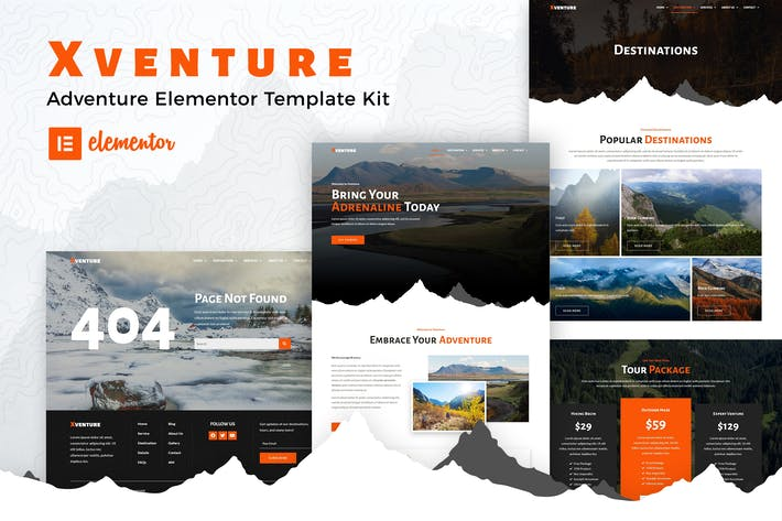 Xventure - Travel Elementor Template Kit