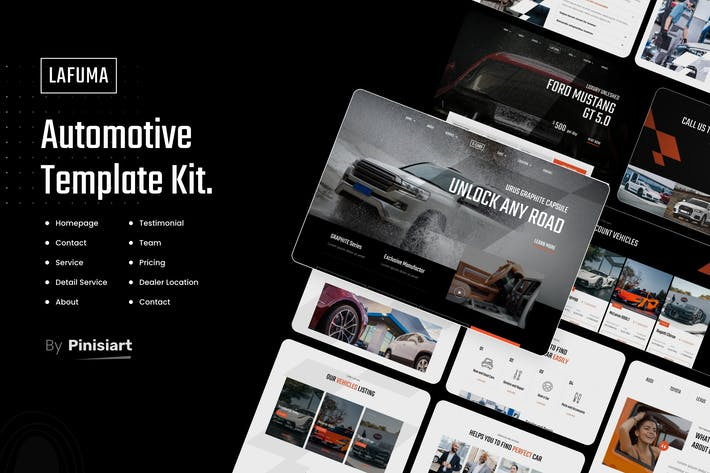 Lafuma | Automotive & Car Rental Elementor Template Kit
