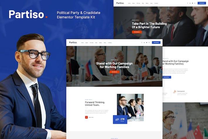 Partiso | Politische Partei & Kandidat Elementor Template Kit