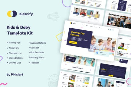 Kidsnify   Daycare Elementor Template Kit