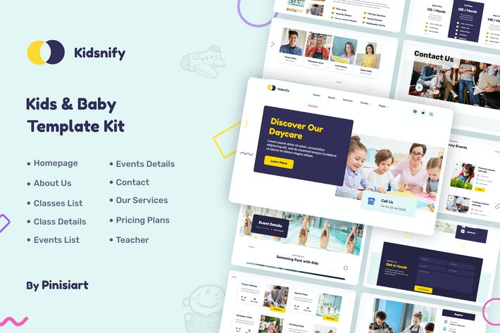 Kidsnify | Daycare Elementor Template Kit