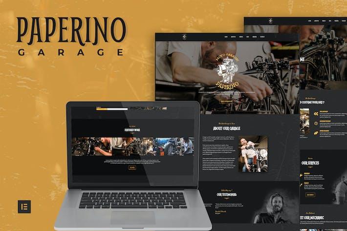 Paperino Garage - Mechanic Elementor Template Kit
