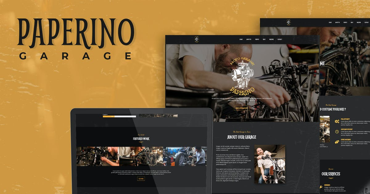 Download Paperino Garage - Mechanic Elementor Template Kit by Rometheme