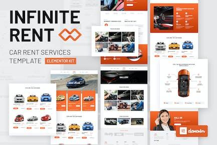 Infiniterent - Car Rental Elementor Template Kit