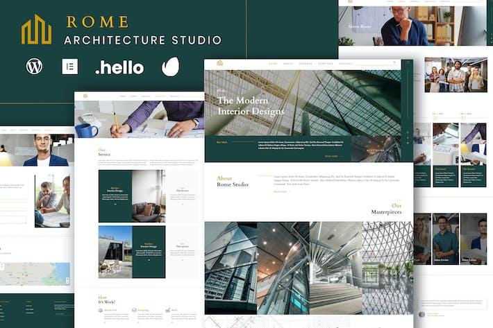 Rome - Modern Interior Elementor Template Kit