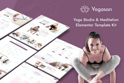 Yogasan - Yoga Studio & Meditation Elementor Template Kit
