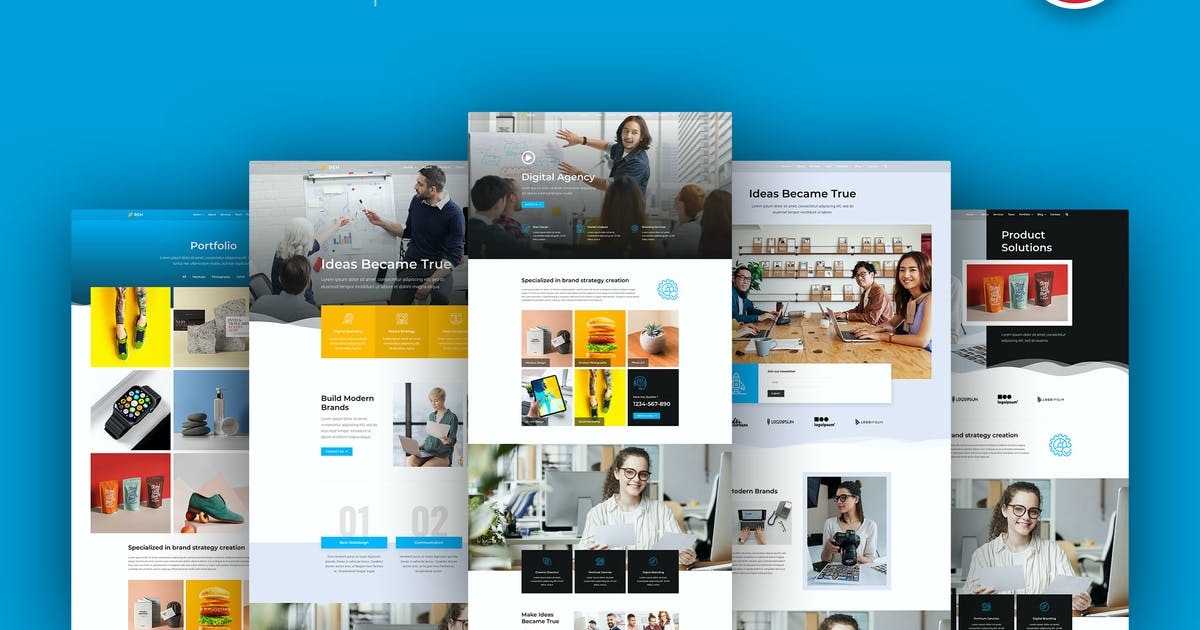 Download Reh - Agency Elementor Template Kit by C-Kav