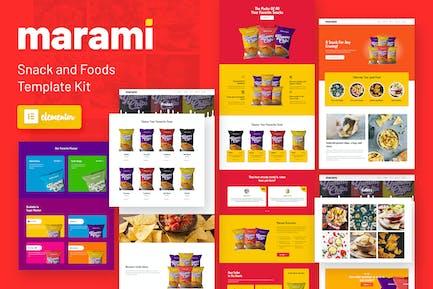 Marami - Snack Marke & Bäckerei Template Kit