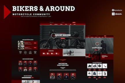 Bikers & Around - Motorcycle Club Elementor Template Kit