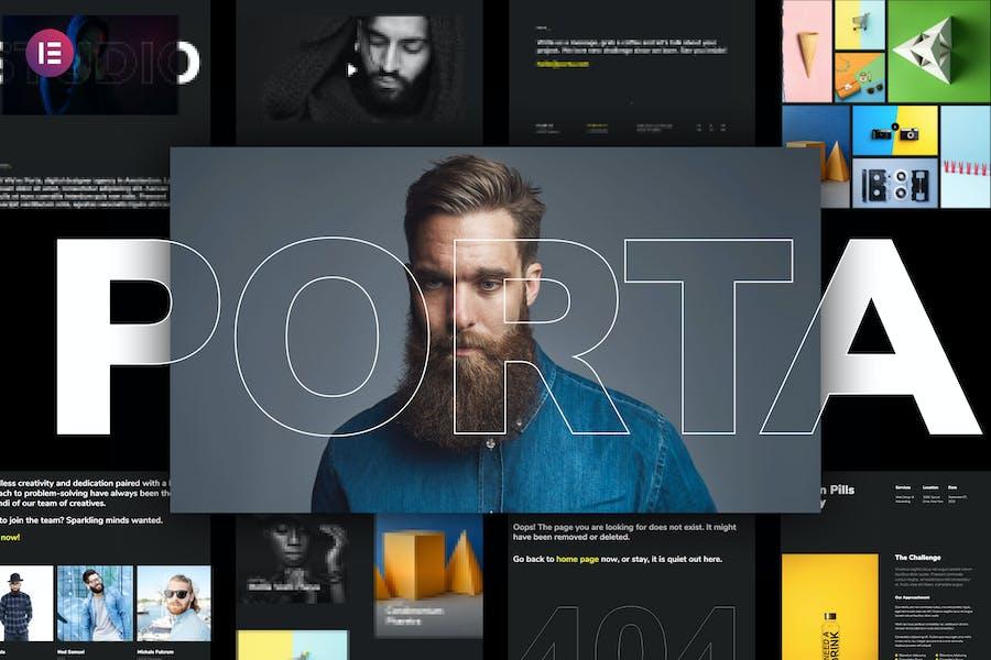 Porta - Creative Portfolio Template Kit