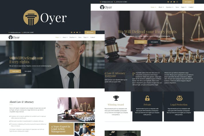 Oyer - Lawyer & Attorney Template Kit