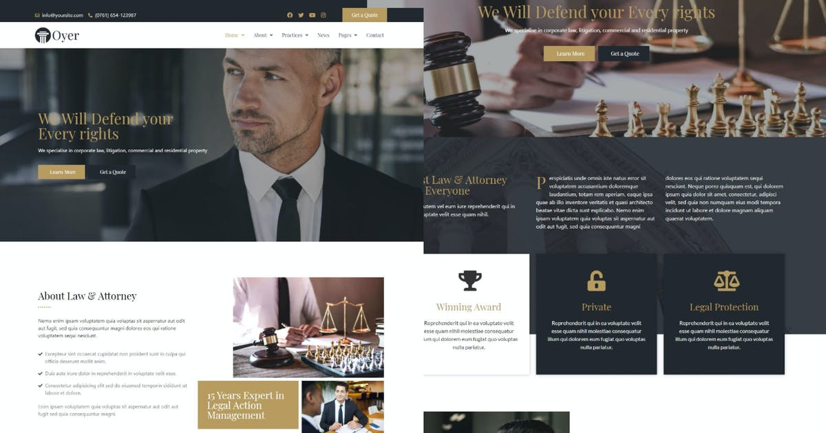 Download Oyer - Lawyer & Attorney Template Kit by takdesain