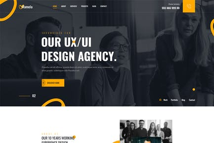 Hamela — Elementor-Vorlagenset Template Kit digitale Agentur