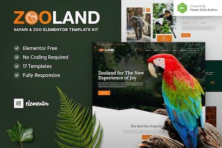 Zooland — Safari & Zoo Elementor Template Kit