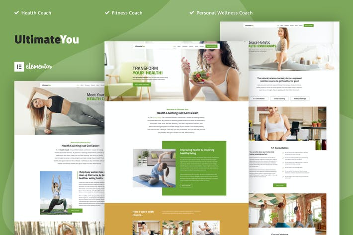 UltimateYou - Health Coach Elementor Template Kit