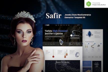 Safir – Jewelry Store WooCommerce Elementor Template Kit