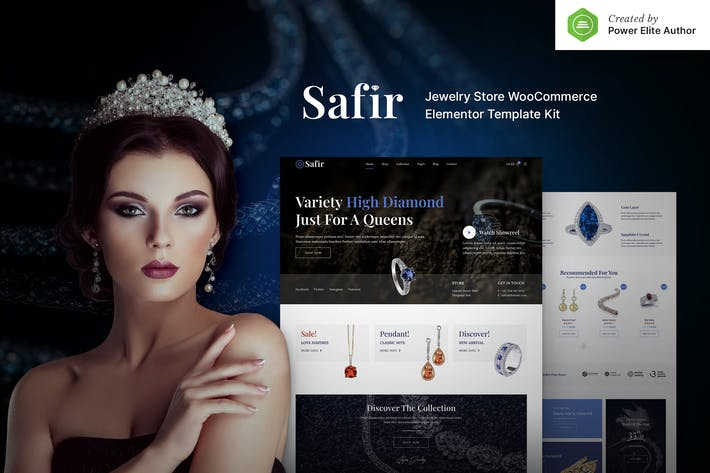 Safir – Jewelry Store WooCommerce Elementor Template Kit