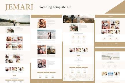 Jemari - Wedding Elementor Template Kit