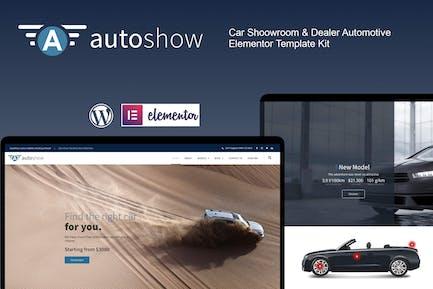 AutoShow - Car Shoowroom & Dealer Elementor Template Kit