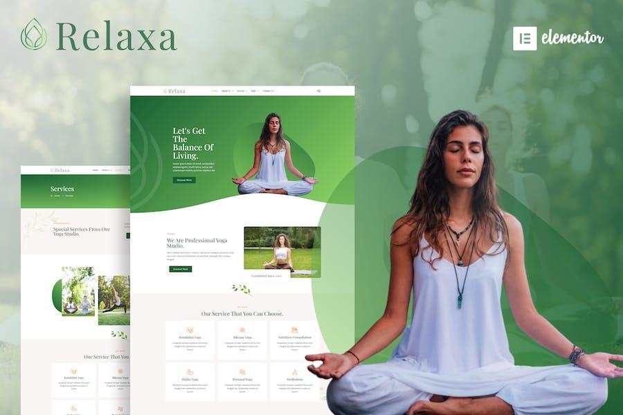 Relaxa - Yogalehrer & Studio Elementor Template Kit