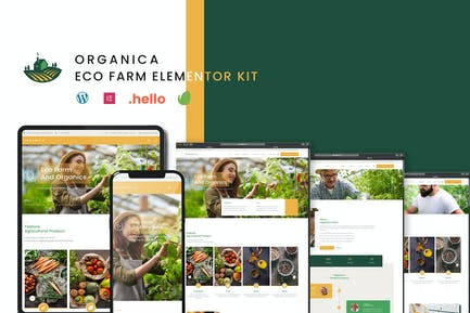Organica - Eco Farm Elementor Template Kit