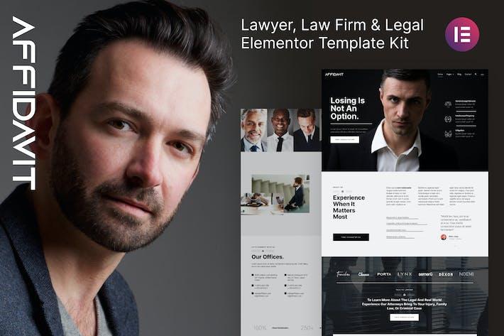 Affidavit – Lawyer & Law Firm Elementor Template Kit