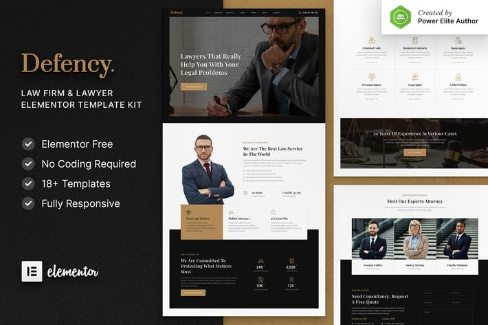 Defency – Law Firm & Lawyer Elementor Template Kit