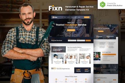Fixn — Handyman & Reparaturservice Elementor Template Kit