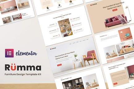 Rumma - Template Kit Elementor Interior Muebles