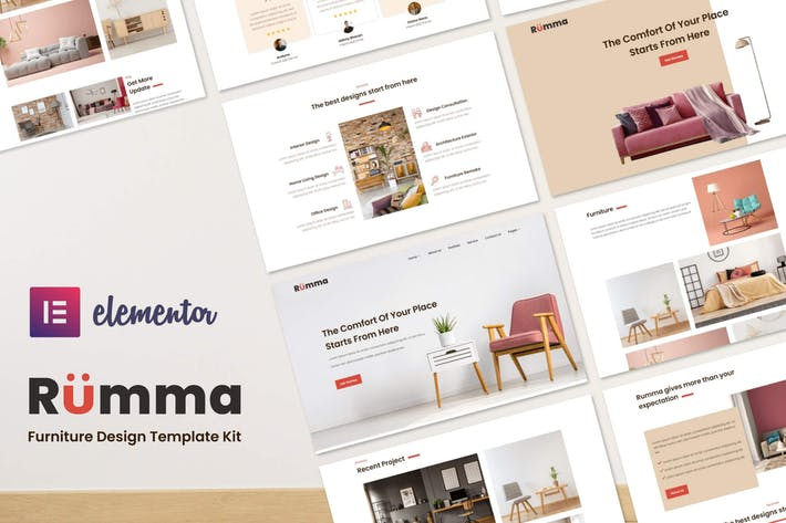 Rumma - Furniture Interior Elementor Template Kit