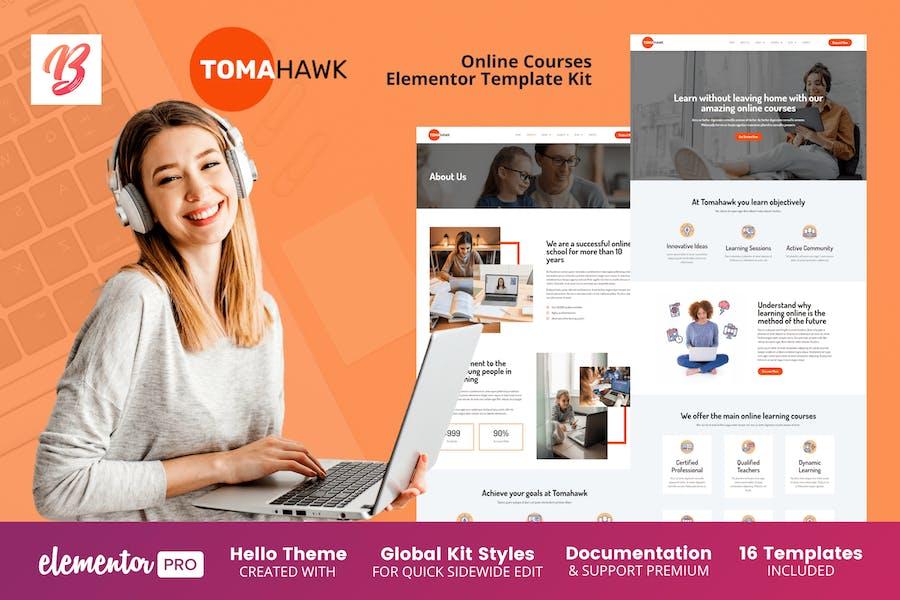 Tomahawk - Cursos en línea Elementor Template Kit