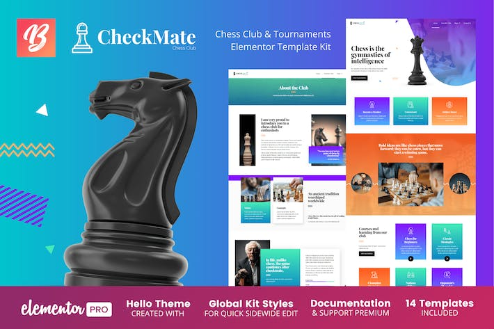 CheckMate - Chess Club & Tournaments Elementor Template Kit