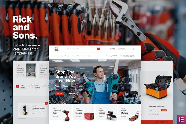 Rick and Sons — Herramientas y hardware minorista WooCommerce Template Kit