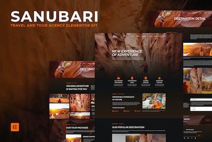 Sanubari - Reise- und Reisebüro Elementor Template Kit
