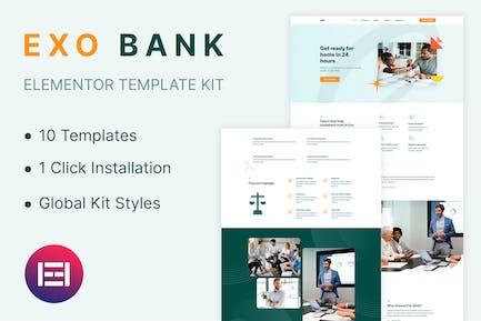Exobank - Financial Elementor Template Kit