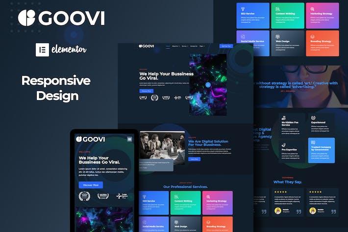 Goovi - Creative Agency & Digital Marketing Elementor Template Kits