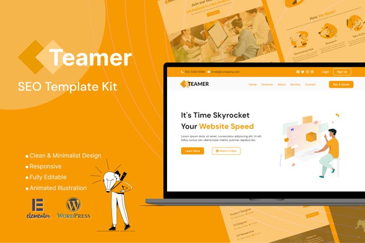 Teamer - SEO Marketing Elementor Template Kit