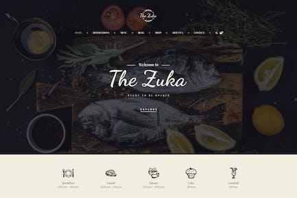 Zukares – Restaurant & Cafe Food  Elementor Template Kit