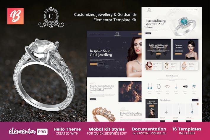 CustMade - Template Kit personalizadas de joyería y orfebre Elementor