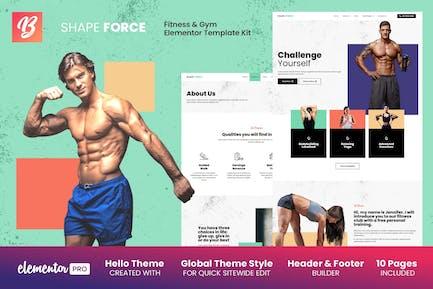 Shape Force - Fitness & Fitnessstudio Elementor Template Kit