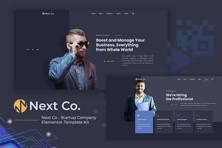 Next Co - Startup Company Elementor Template Kit