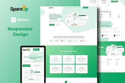 SparxUp - Saas & Startup Elementor Template Kit